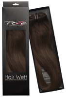 Poze Standard Natural Hairweft - 110g Chocolate Brown 4B - 50cm