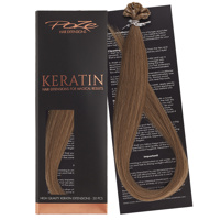 Poze Standard Keratin Extensions Light Brown 8B - 40cm