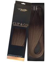 Poze Standard Clip & Go Hair Extensions - 125g Riche Brown Balayage T5 - 50cm