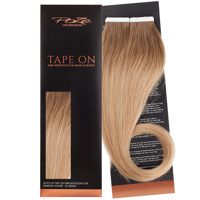 Poze Standard Tape On Extensions - 52g Sandy Brown Balayage 7BN/10B - 40cm