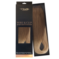 Poze Standard Wire & Clip Extensions - 130g Sandy Brown Balayage 7BN/10B  - 50cm