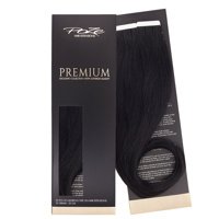 Poze Premium Tape On Hair Extensions - 52g Midnight Black 1N - 50cm