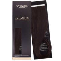 Poze Premium Tape On Hair Extensions - 52g Midnight Brown 1B - 50cm