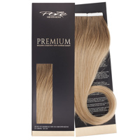 Poze Premium Tape On Hair Extensions - 52g Sandy Brown Balayage 7BN/10B - 50cm